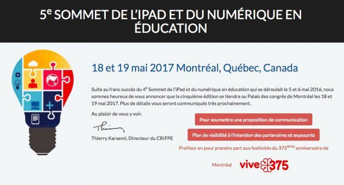 5e Sommet de l'iPad et du numérique en éducation