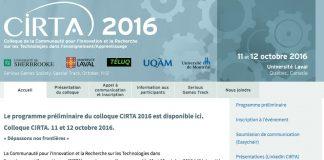 Colloque CIRTA 2016