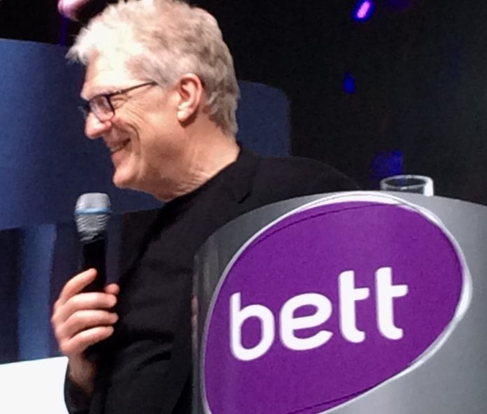 BETT 2017 : Sir Ken Robinson (photo : Ninon Louise Lepage)