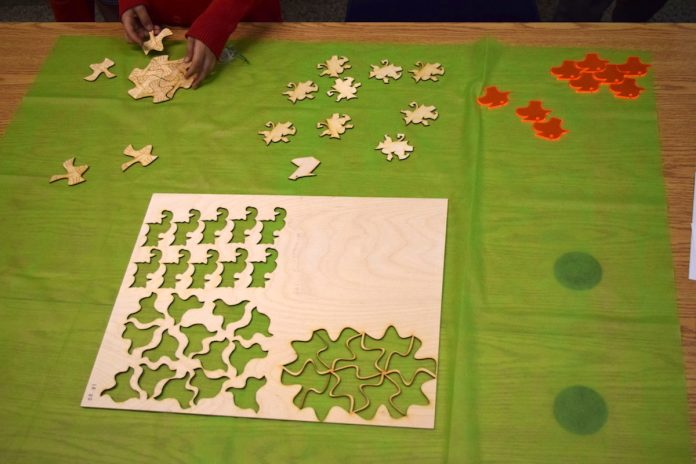 Arts, maths et fabrication numérique : Escher s'invite au Collège Beaubois