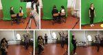 Production vidéo sur fond vert